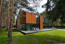"""Nowoczesna Stodoła / nspiracje domów typu """"Nowoczesna stodoła"""". Pomysły na nowoczesną stodołę i wiele więcej. Firma Przybylski może zrealizować konstrukcje aluminiowo-szklane dla takiego domu. Zapraszamy do galerii."""