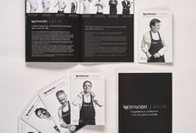 Nespresso | Print & Création | Atelier Nespresso Lyon 2017 / Pour l'événement culinaire Atelier Nespresso, à Lyon, le Studio 14 septembre conçoit, rédige, imagine l'identité graphique & produit l'ensemble des documents éditoriaux (invitations, livret, menus) et créé un foulard aux couleurs de la marque.