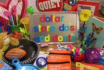 Creative Teaching on A Dollar Store Budget / A board all about fabulous finds and ideas made from Dollar Store items, cheap items, or recyclables! Make great teaching activities and manipulatives on a dollar store budget. Focuses on elementary aged students.