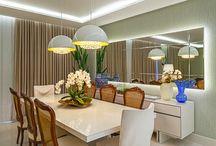 Sala de jantar com lustre ideal