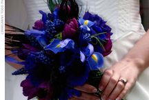 Wedding Flowers! / Burgundy and blue