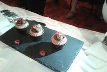 Cup cake, especially made for HSH Princess Stephanie / Création Julien Beaulieu,  Cup cake chocolat, confit yuzu-framboise Cup cake σοκολάτας κονφί γιουζού – φραμπουάζ