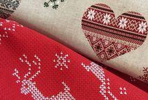 christmas fabrics, christmas curtains