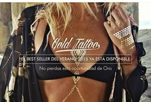 Gold Tattoo / Gold Tattoo No pierdas esta oportunidad de oro! Fácil aplicación Dermatológicamente probado Embalaje de calidad www.catwalk-669.com