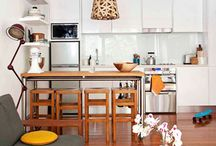 living room kitchen combo small / Living room & kitchen