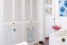 drzwi  do garderoby i łazienki