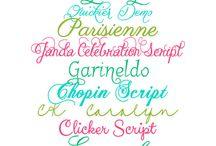 fontes de letras