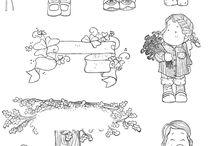 Desenhos Magnolia / Desenhos e ilustrações coloridos e para colorir e bonecas de materiais diversos Magnólia