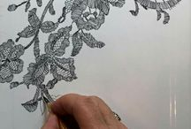 Lace painting