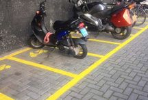 Scooter voorzieningen / Ons  assortiment is niet uitsluitend op fietsen gericht. Falco levert voor het parkeren van scooters ook parkeervoorzieningen.