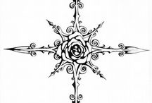 tatoo rose des vents