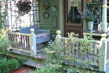 Back Deck Ideas / decorating ideas for our back deck or patio area.  Outdoor rooms with great plants, furniture and art for a relaxing atmosphere.