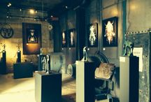 Gallery / Cast bronze sculptures and Digital paintings created by the two artistic brain childs of HQ
