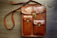 Natural leather bags / Travel and city shoulder bags
