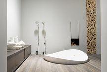 Baños con suelos de madera