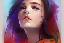 Portrait painting / Awesome digital paintings