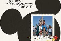 Disneyland scrapbook