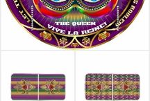 """Mardi Gras Queen Table Tailgate Style READ NOTES / NOTE: """"Do not switch table sizes until you VIEW IN customize FIRST"""",Remember to wear the Mardi Gras colors of purple, green and gold during Mardi Gras whenever you're not in costume!</font><br/>The Cost of a single Design $100.00 to $500.00, Your cost """"FREE on Zazzle"""", why? because you don't have to pay for my services!"""