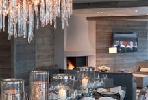 Ski Lodge Style / Alpine, mountain, snowy warm and cosy quintessential ski lodge style