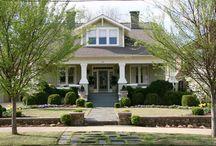 Landscaping for craftsman home