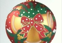 Hand painted glass ornaments / Decorative art from Ukraine and Russia