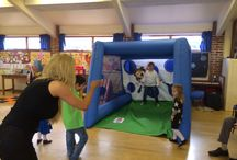 Bouncy castles available to hire in Essex & Suffolk / A selection of our inflatables on show in essex & suffolk with garden games Partyhire @essexgameshire
