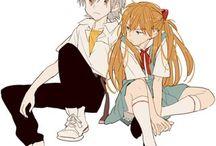 Kaworu und Asuka