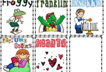 Book Baskets / Book Bins / You can always find plastic boxes, crates, and bins for books...but I like the more unusual options. Enjoy the free book basket labels. / by Linda's Links