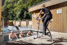 aqua-thermal-bike / Des séances d'aqua-bike en eau thermale