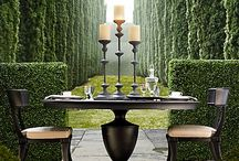 outdoor spaces / I want to make my outdoor spaces as interesting as the inside.