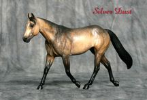 Working Girl / Stablemate scale stock horse mare sculpted by Sarah Rose www.rosehorse.com  Painted by various artists