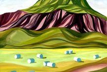 ISLANDE paysages / gouaches sur papier