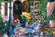 Malarstwo - ogród, widoczki