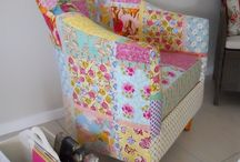 CHAIRish the Love / using quilts and vintage fabric to recover chairs