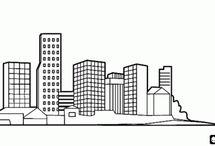 dibujos de ciudades