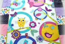 Patchwork baby bedding items