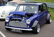 Mini and Mini Cooper / Photographs of classic Mini and Mini Cooper cars.