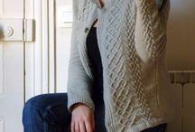 tricot gilet femme torsades