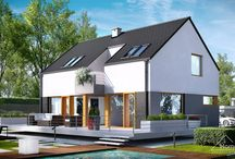 HomeKONCEPT 6 | Projekt domu / HomeKoncept 6 to bez wątpienia odważny i wyjątkowy projekt, którego zarówno forma zewnętrzna jak i wnętrza bez wątpienia wskazują na nowoczesny styl. Przejawia się on prostej, geometrycznej bryle, dwuspadowym i bezokapowym dachu przekrytym elegancką dachówką oraz licznych, dużych przeszkleniach, które dodają wnętrzu przestronności.