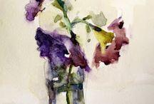 Akvarelliasetelma