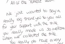 Testimonials / When it comes to supporting Tomcat, no one says it better than you. We receive lots of photographs and letters of gratitude for the work that we do. We have testimonials from both professionals and parents and we are thrilled that our kit is held in such high regard by both.