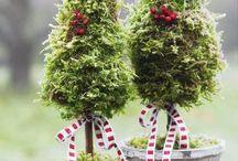 Weihnachtsdeko / Tannenbaum moos