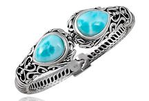 Marahlago Larimar Kai Collection / We just love new MarahLago's Kai Collection! Balinese flair of the oxidized sterling silver adorned with teardrop shaped Larimar stones. Discover Kai Collection: http://bit.ly/1pJxZfF