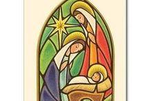 sagrada familia en vidrio