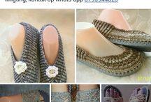 Gehekelde skoene