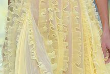 5 Vestidos  amarillos