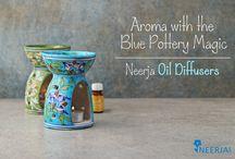 Neerja Blue Pottery Oil Diffusers