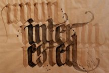 Calligraphy / by Marco Bernardes