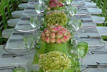 arrangements- ideas  for sit down dining / by Lisa Morris