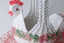 pletení z papírových roliček